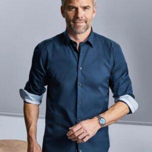 Camicia LS Tailored Contrast Ultimate Stretch